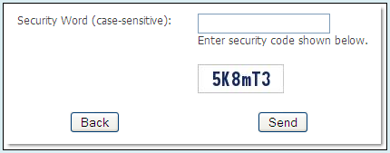 CAPTCHA Feature